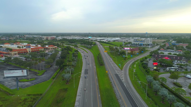 Florida City Outlet Center aerial drone footage