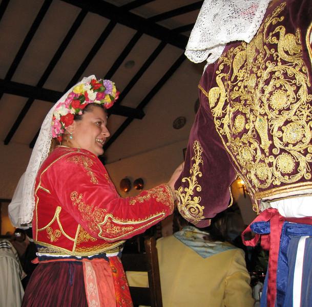 Corfu, Greece - Folk dancing during lunch