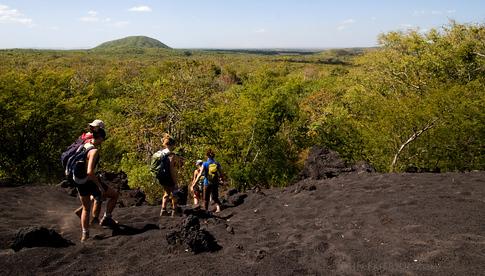 Leaving the Cerro Negro Volcano