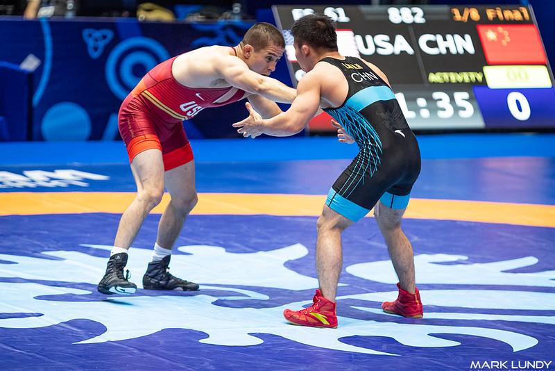 Champ. Round 2: Tyler Lee Graff (United States) over Minghu Liu (China)  •  Dec 7-0 - 2019 World Championships