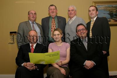 SDLP Meeting, Armagh & Crossmore Candidates with Dermot Ahern, Jim Lennon, Michael Carson, Gerard Mallon, Thomas O'Hanlon, Mealla Bratton and Dominic Bradley, 05W13N55.