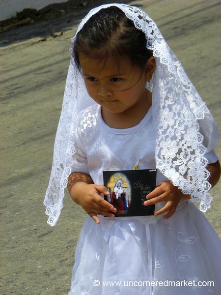 Little Guatemalan Girl in White - Semana Santa, Antigua