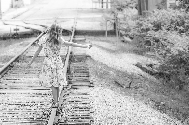 The Railroad Tracks (b&w)