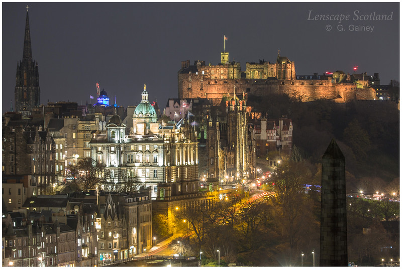 Old Town and Edinburgh Castle from Calton Hill