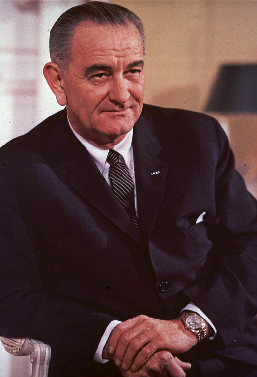 . 1964: Lyndon B. Johnson. Lyndon B. Johnson, seated in the Yellow Room of the White House in Washington, D.C., on December 18, 1964. (AP Photo)