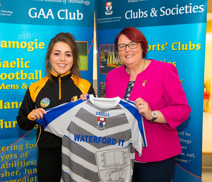 WIT holds event to honour 2016 All Ireland medal winning students. Pictured with the  President of the Camogie Association Catherine Neary is Meighan Farrell of the Kilkenny Senior Camogie Team. Picture: Patrick Browne  Waterford Institute of Technology's presence and influence across Gaelic Games at a national level in 2016 has been very noticeable. In total there are 32 past and present WIT students on the respective playing panels that won All Ireland medals in 2016 and a further 4 members on the backroom management teams.   To honour this huge achievement, WIT GAA Club is paying tribute to these 36 past members on securing these prestigious national titles on Monday 3 October, 6.30pm at the WIT Arena.   Along with the players, the prestigious cups, including the All Ireland Senior Hurling Cup- Liam McCarthy, the All Ireland Senior Camogie Cup- O'Duffy, The All Ireland Minor Cup and the All Ireland Under 21 Hurling Cup- James Nowlan, will be on show on the night.