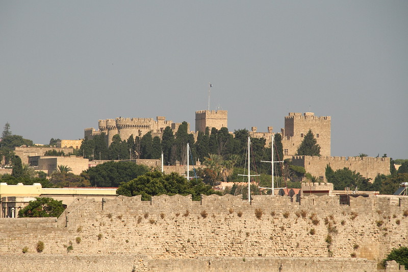 Rhodes Old Town castle.