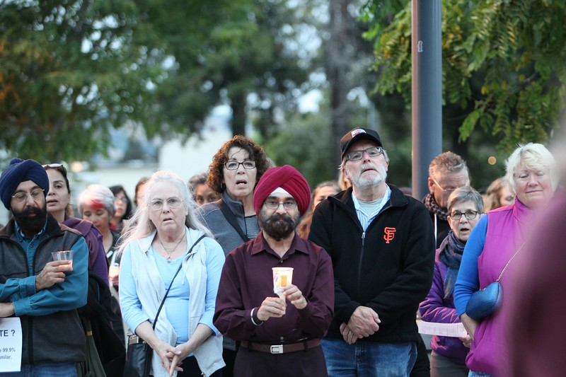 Charlottesville Vigil - Castro Valley 8-13-2017-Mickey Souza-7.JPG