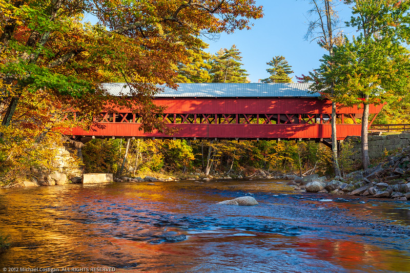 Conway Covered Bridge in Late Afternoon