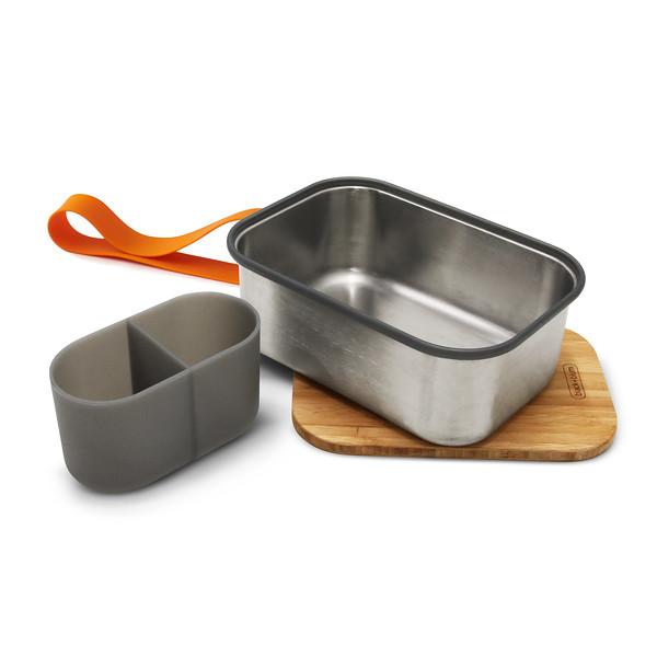 Stainless Steel Sandwich Box Large orange Black Blum