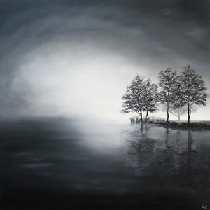 """""""In the fog"""" (oil on canvas) by Dinara Aristo"""