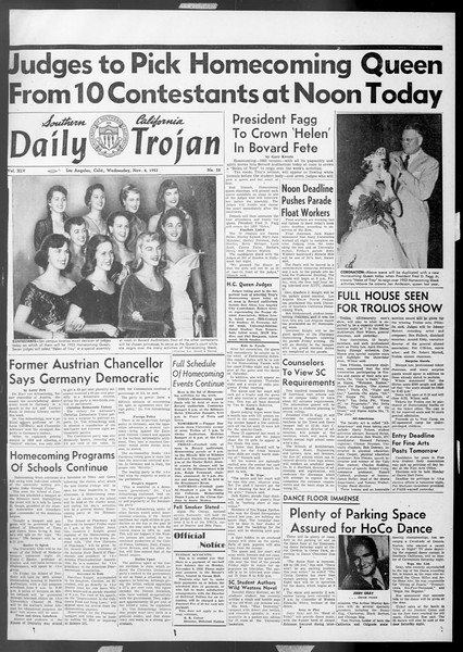 Daily Trojan, Vol. 45, No. 32, November 04, 1953