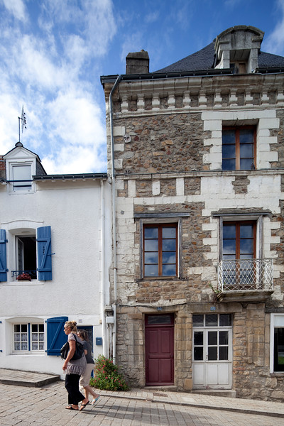 Typical houses, town of Auray, departement of Morbihan, Brittany, France