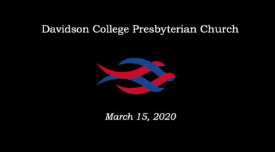 Davidson College Presbyterian Church_March15