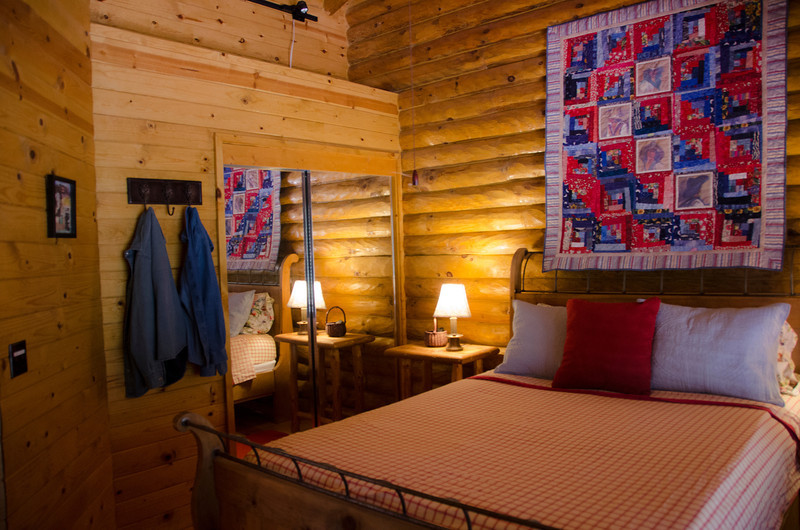 It's a cozy room.