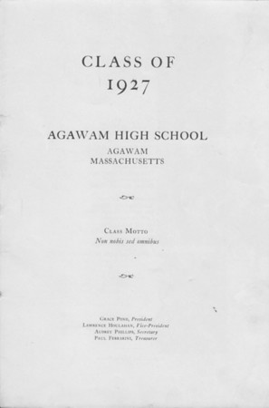 Class of 1927-39 Agawam High School