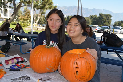 LCHS Students Carve Pumpkins for Art Class