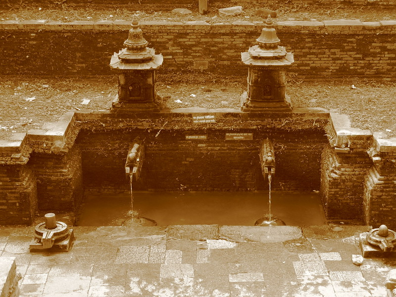 Water spouts in Patan