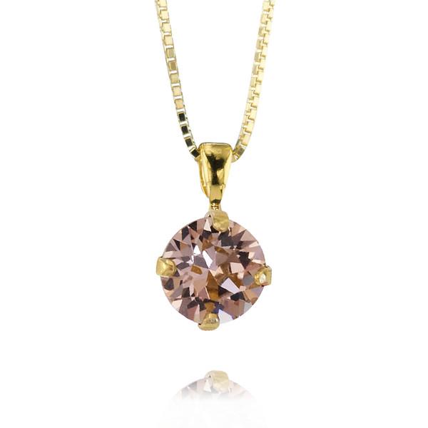 Petite Stud Necklace / Vintage Rose Gold