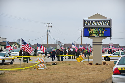Lance Cpl. Kenny Corzine Funeral 01/06/2011