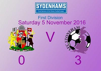 Romsey Town (0) v AFC Stoneham (3) 5.11.2016