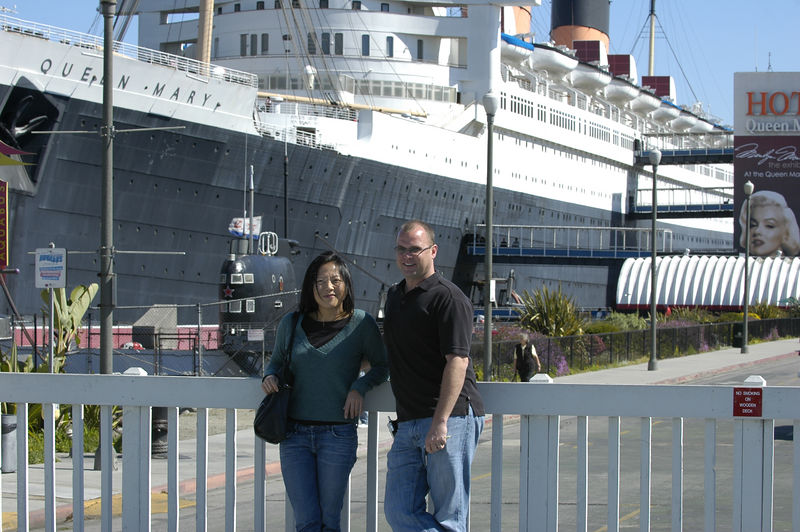 David and Laura in Long Beach.