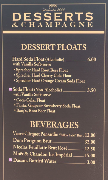 Desserts Menu - Epcot Food & Wine Festival 2016