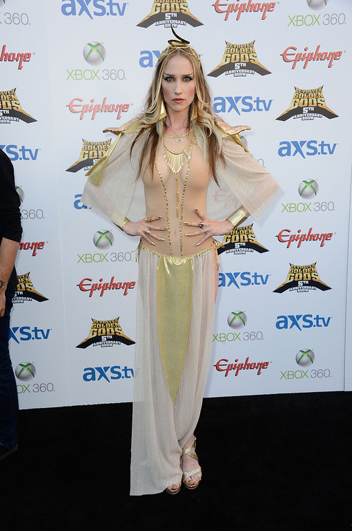 . Musician Jill Janus arrives at the 5th Annual Revolver Golden Gods Award Show  at Club Nokia on May 2, 2013 in Los Angeles, California.  (Photo by Frazer Harrison/Getty Images)