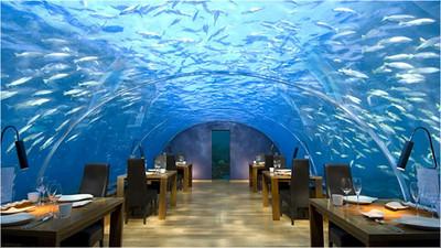 Good shot of Ithaa restaurant