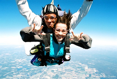 Cheryl's First Sky Dive 2004