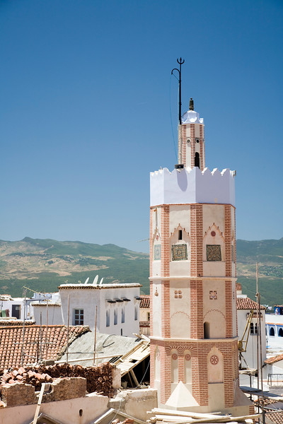 Minaret of the Great Mosque, Chefchaouen, Morocco