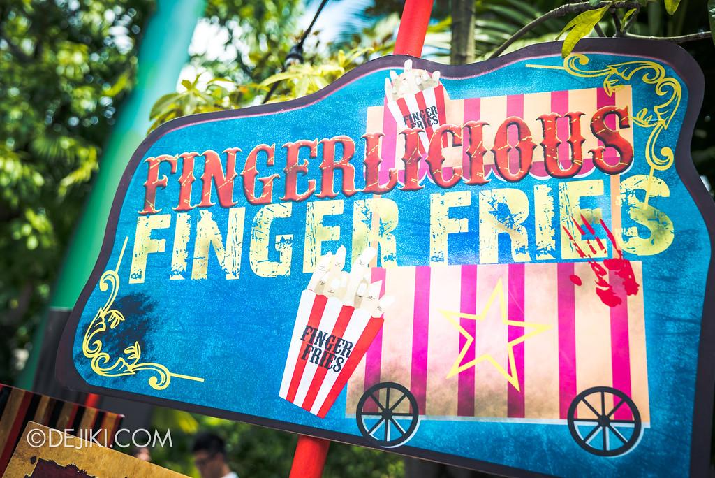 Halloween Horror Nights 7 Before Dark 1 / Happy Horror Days scare zone Circus Freakshow area Finger Fries