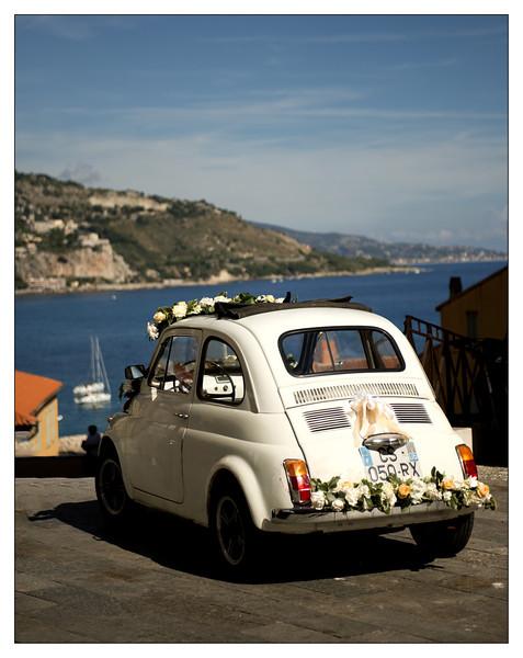 Wedding car in Menton