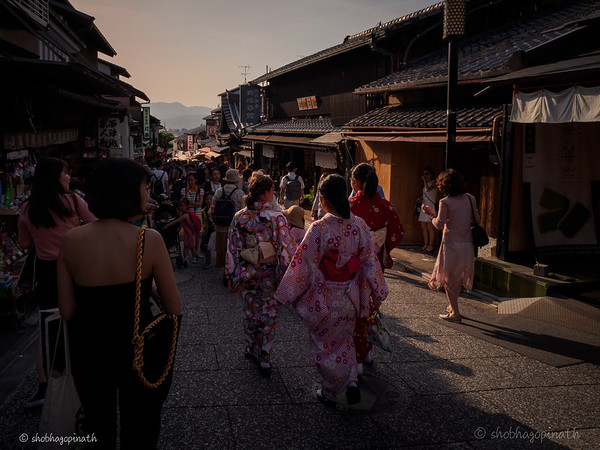 Higashiyama District - the lanes were packed with local and foreign visitors alike