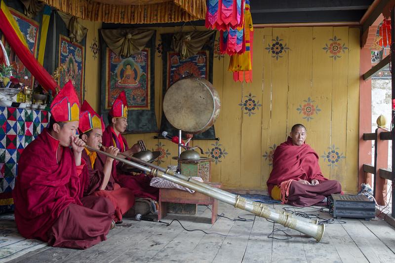 Musicians at Bhutanese Festival