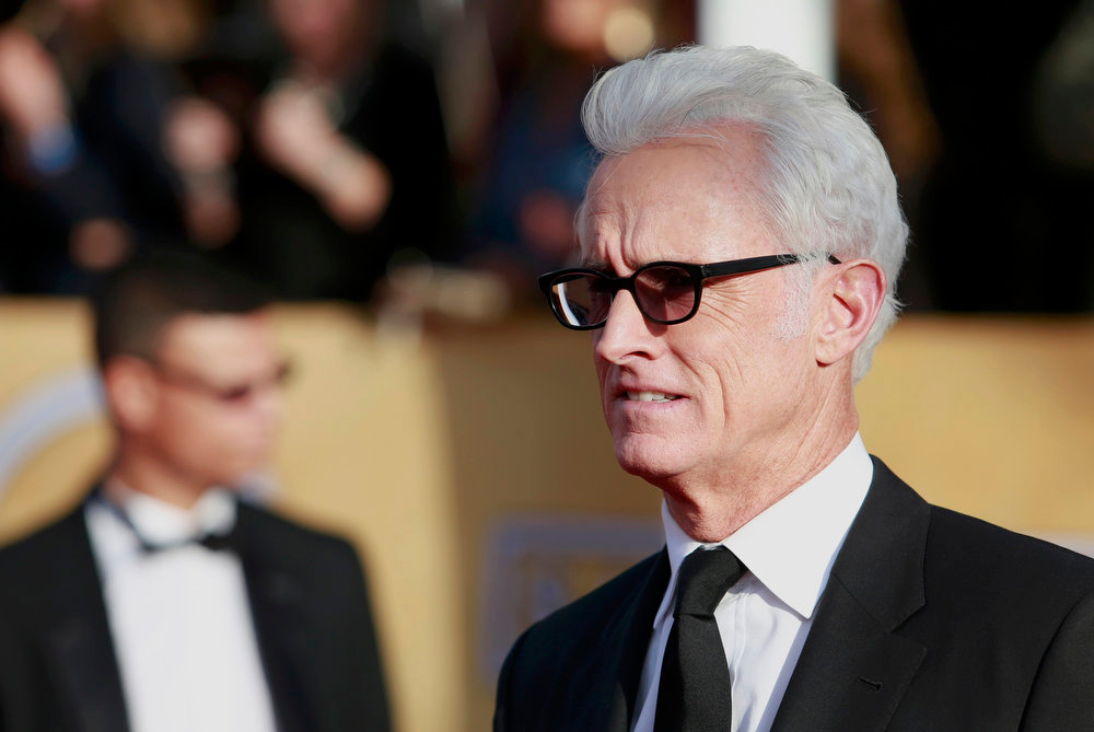 ". Actor John Slattery, from the series ""Mad Men,\"" arrives at the 19th annual Screen Actors Guild Awards in Los Angeles, California January 27, 2013.  REUTERS/Adrees Latif"