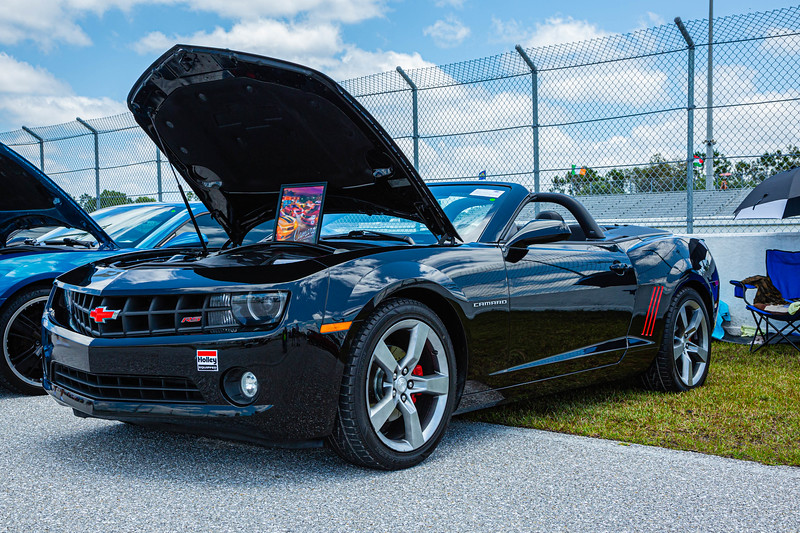 A 2011 Chevy Camaro owned by Hector Chevres of Homestead at the Super Chevy Show at Palm Beach International Raceway in Jupiter on Saturday, May 25, 2019.[JOSEPH FORZANO/palmbeachpost.com]