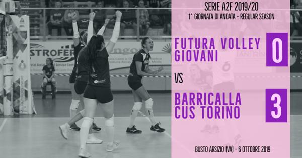 A2f - 1^ Futura Volley Giovani Busto Arsizio - Barricalla Cus Torino