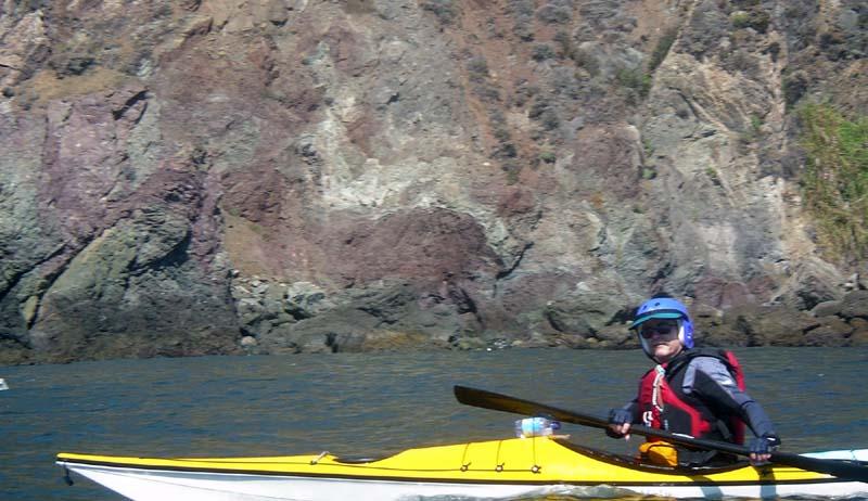 Joe Sharp heads toward Bonita Cove.