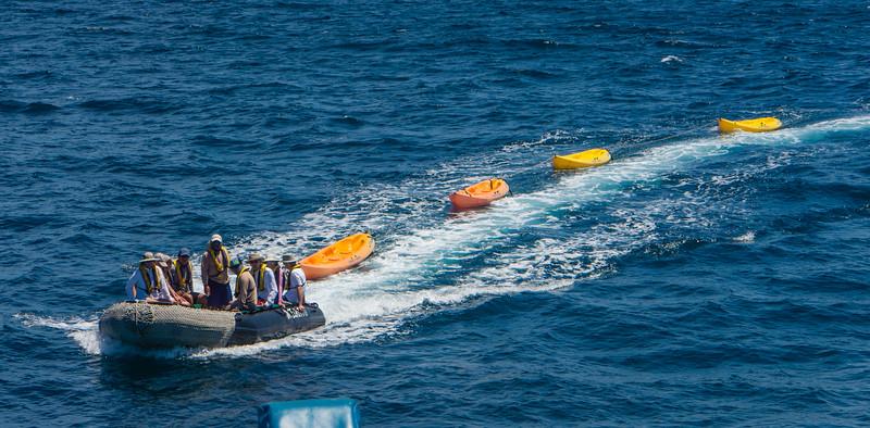 Returning Kayaks