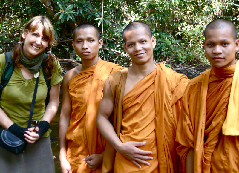 Me with some Monks, Phnom Kulen National Park: Siem Reap