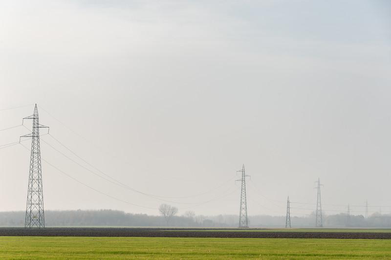 Power Lines - Sant'Agata Bolognese, Bologna, Italy - December 3, 2018