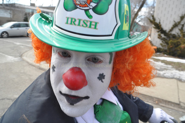 2014 Detroit St Patricks Day Parade with Detroit Fire Department Clown Team