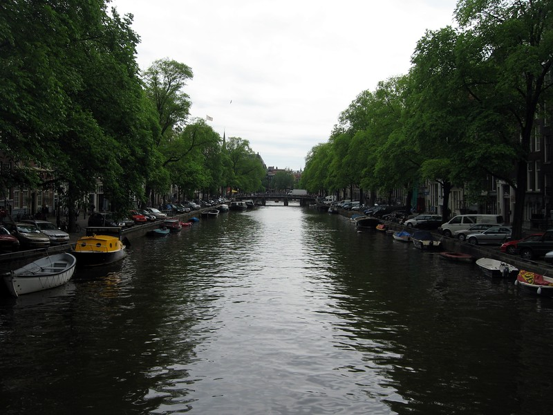 Canal in downtown Amsterdam