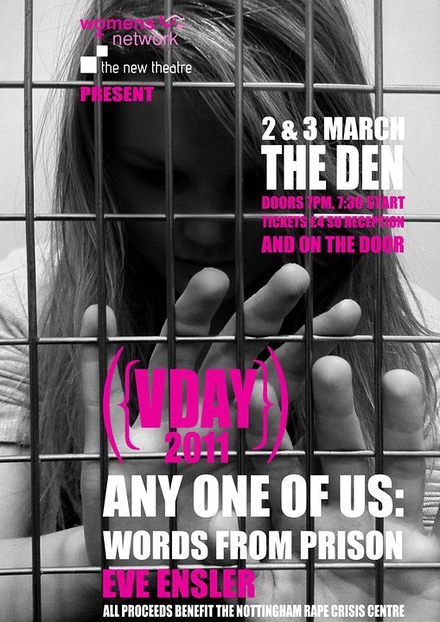 VDAY 2011 - Any One Of Us: Words From Prison poster