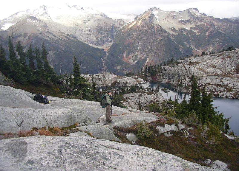 Me and Mt. Daniel, Robin Lakes below.