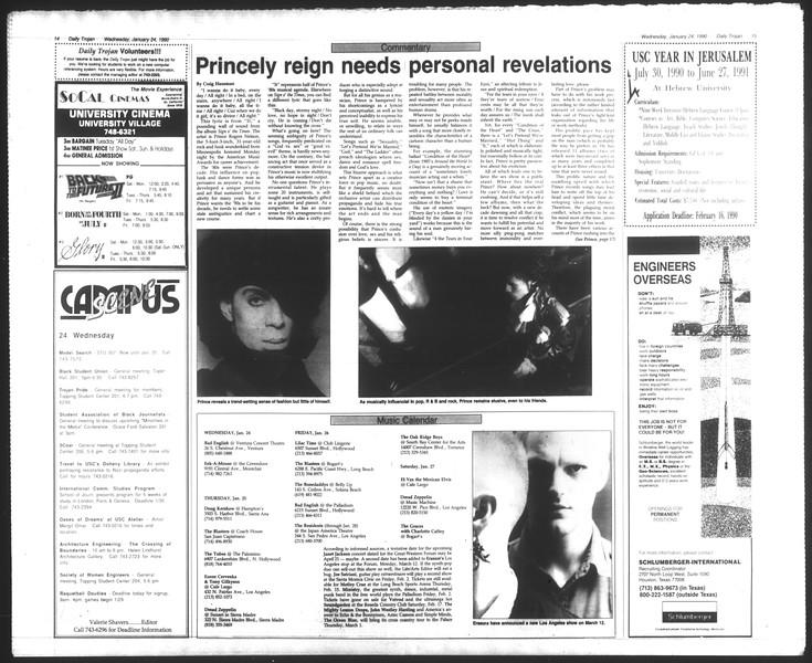 Daily Trojan, Vol. 111, No. 9, January 24, 1990