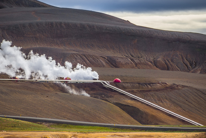 Geothermal power station at Krafla