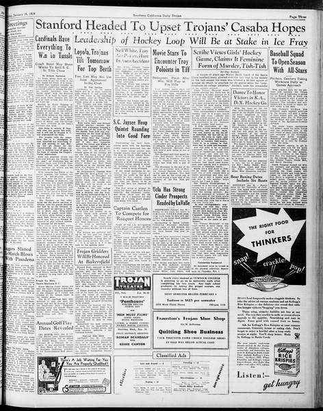Daily Trojan, Vol. 25, No. 72, January 26, 1934