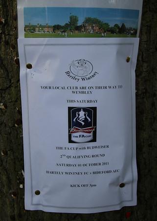 Hartley Wintney 2 Bideford AFC 1 - FA Cup - 1/10/11